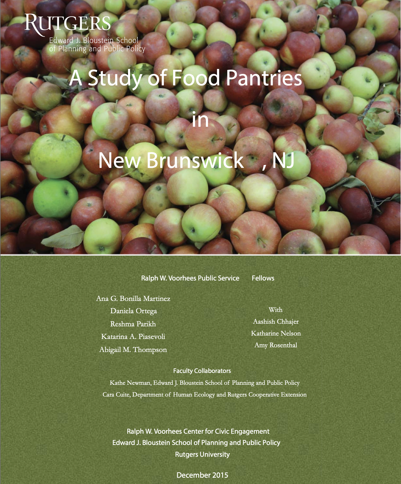 New Brunswick Emergency Food System Rutgers Bloustein Voorhees Civic Engagement