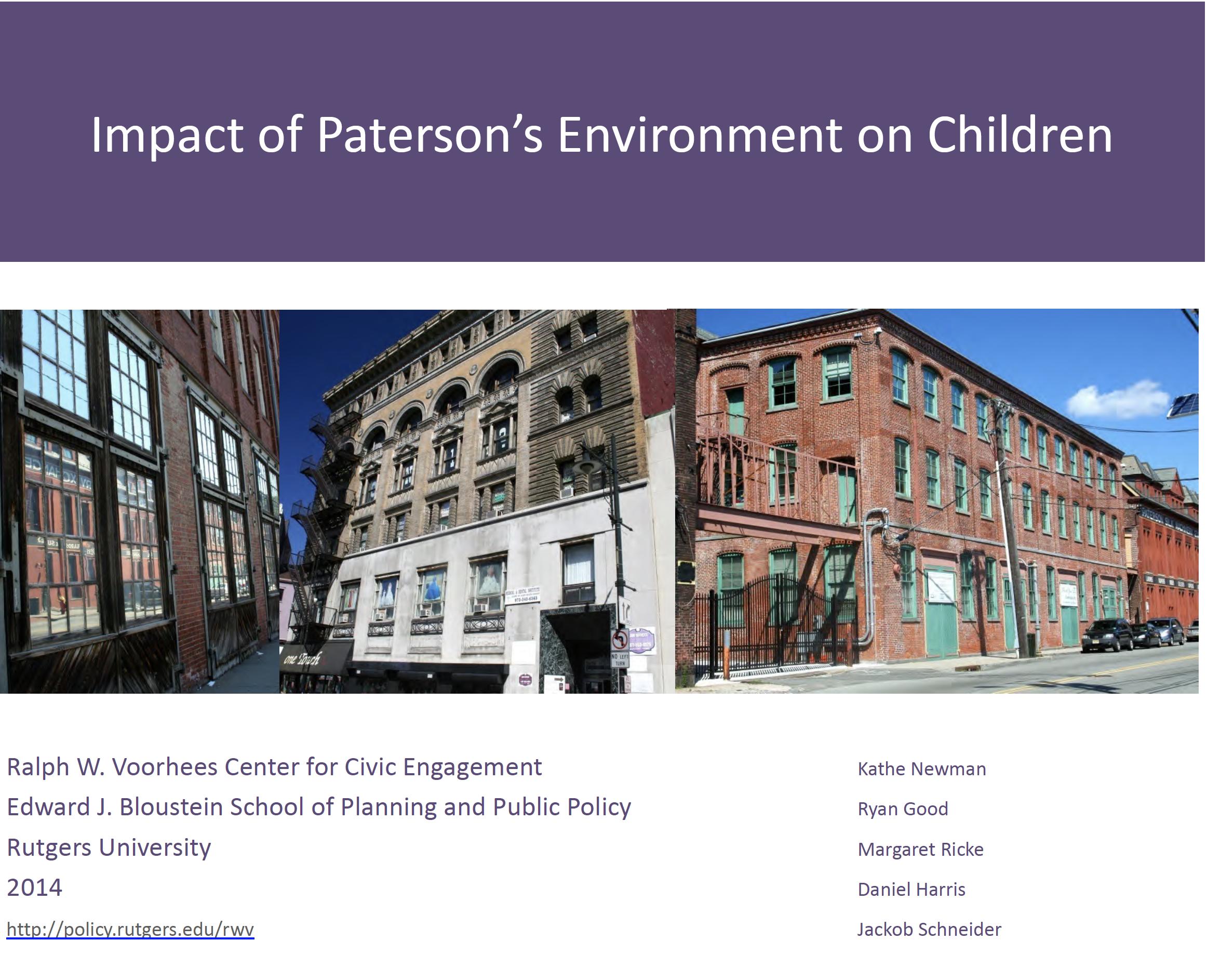 paterson community development Voorhees civic engagement Bloustein