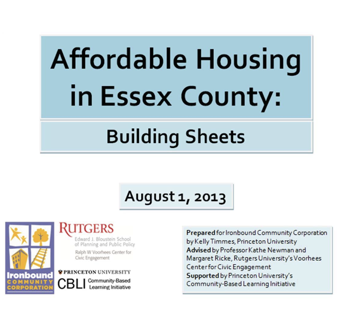 affordable housing New Jersey Voorhees civic engagement Rutgers