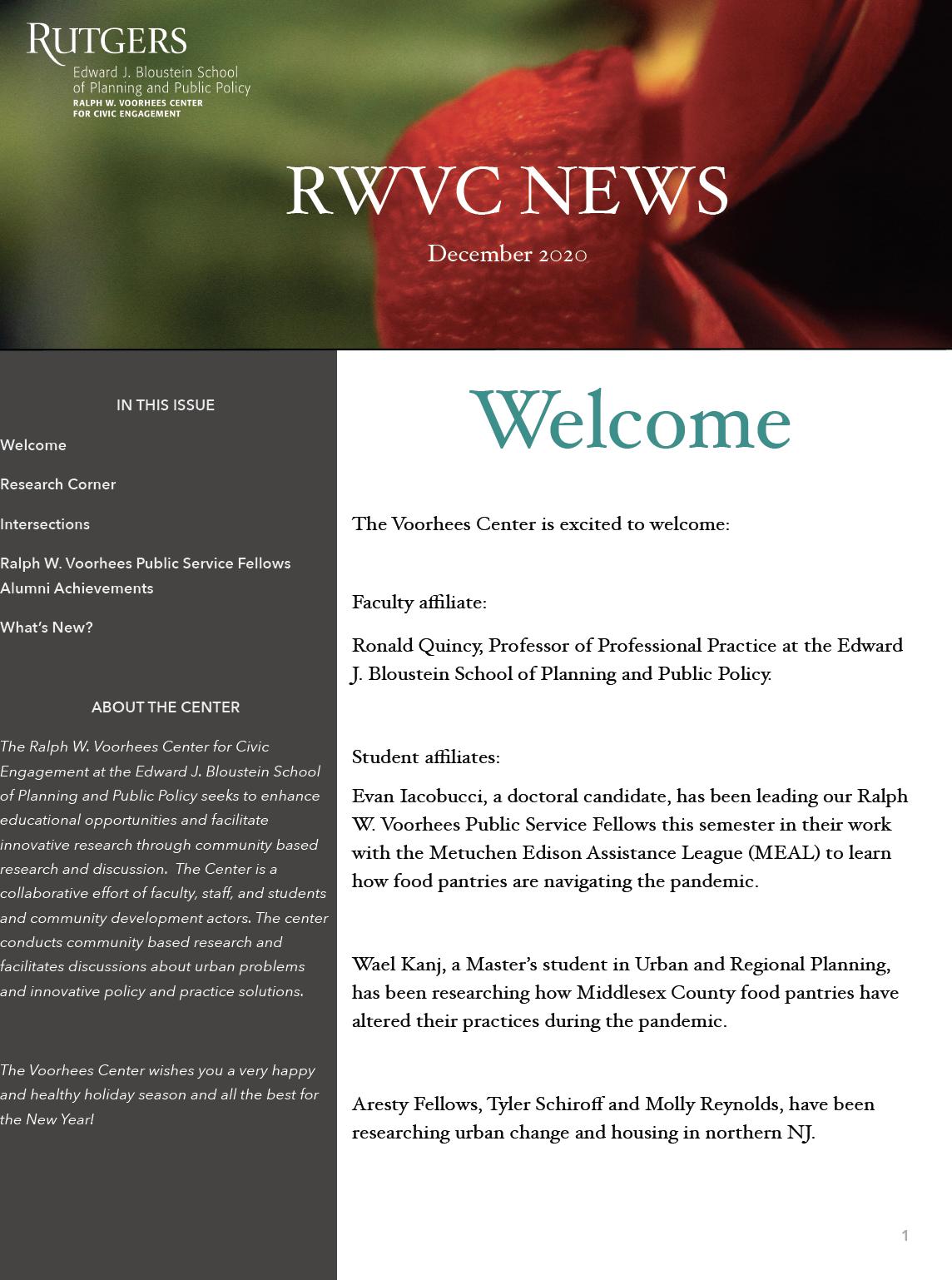 academic newsletter Rutgers University