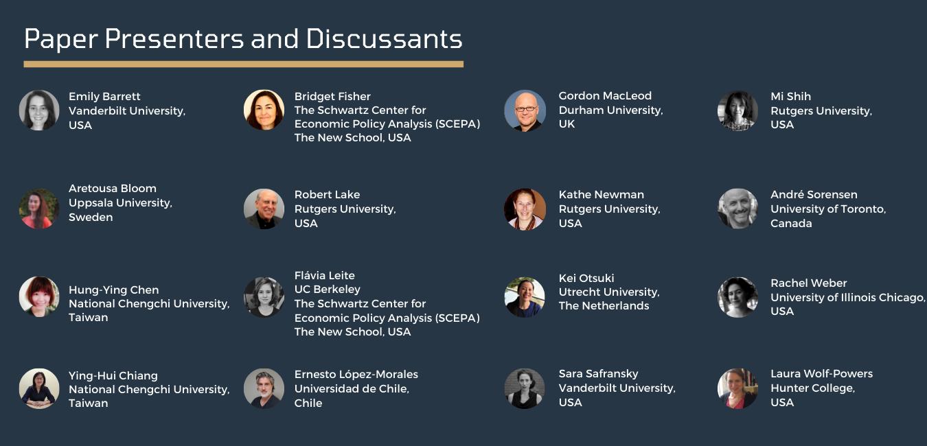 Ralph W Voorhees Center Urban Studies Foundation Seminar Series